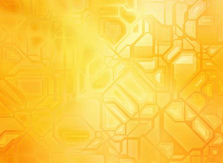 コピー スペースを持つ未来的な抽象的な黄金の技術背景
