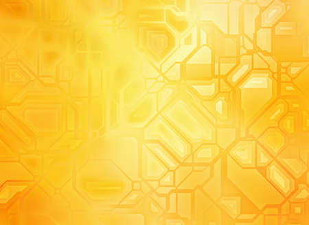 futuristic abstract golden tech backgrounds with copy space Stock Photo