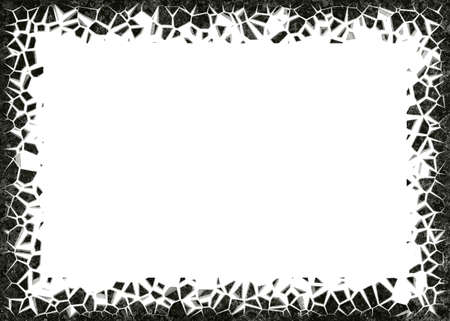 frame from stones on white backgrounds