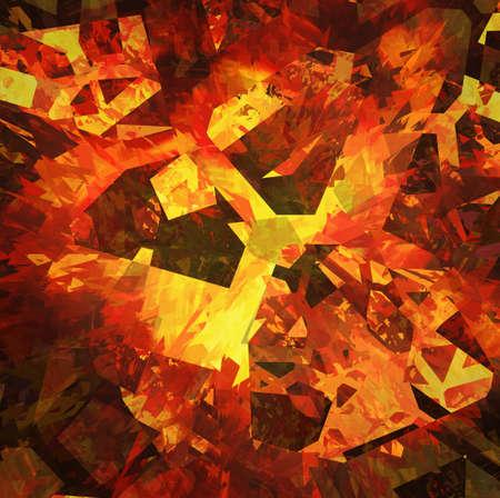 fragment: burst fragment of fire broken