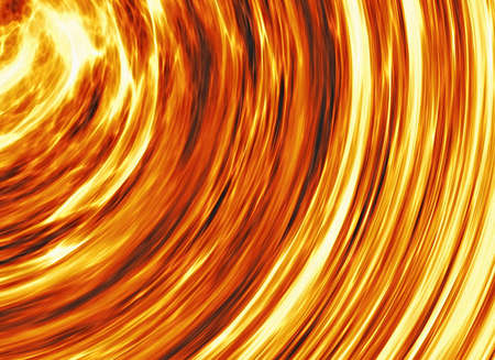 emit: curled bright explosion fire rays Stock Photo