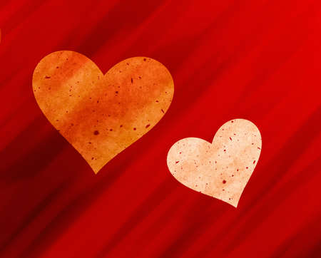 dreamy: 2 dreamy light hearts on red rays backgrounds. Love symbol