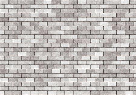 hires: hi-res grey small brick wall pattern+ Stock Photo