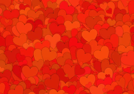 greeting cards: many red small hearts backgrounds. love texture