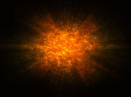 irradiate: bright fire burst explosion flash background