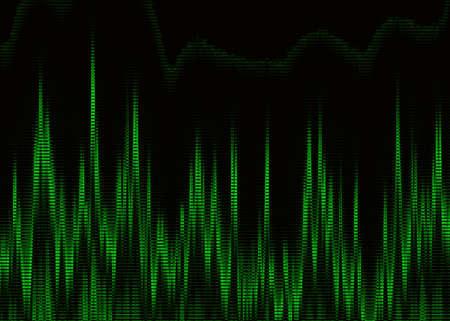 heart monitor: Green heart cardiogram on monitor screen Stock Photo