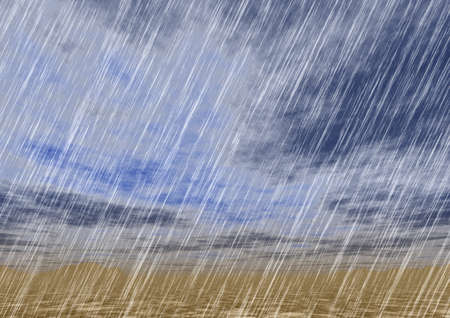 cloudburst: rain storm backgrounds in cloudy weather Stock Photo