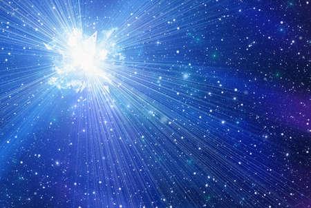 irradiate: cosmic sky with many stars Stock Photo