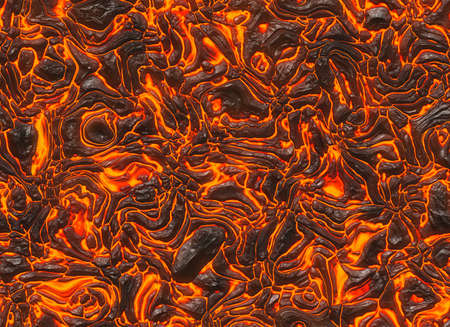 overheat: heat red lava texture background of eruption volcano