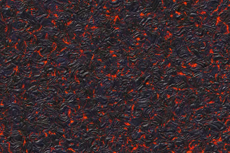overheated: solidified hot lava texture of eruption volcano Stock Photo