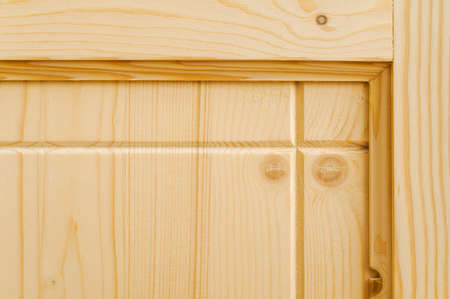 woodwork: new woodwork. part of a wood door Stock Photo