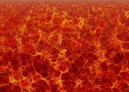 overheated: hot lava fire texture after eruption volcano Stock Photo