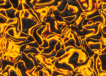 ember: hi-res hot lava and coal texture of eruption volcano Stock Photo