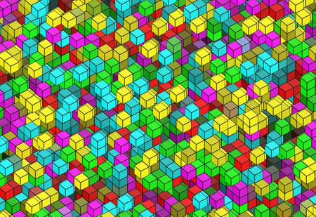 cramped: building structure from cubes. Abstract architecture backgrounds
