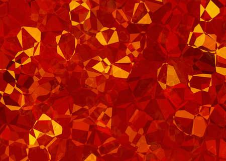 cubismo: cristal de fuego textura abstracta. cubismo pintado fondos Foto de archivo