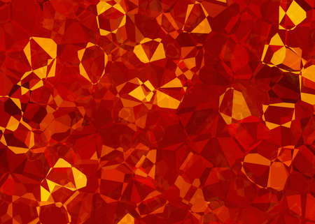 overheated: fire crystal abstract texture. cubism painted backgrounds Stock Photo