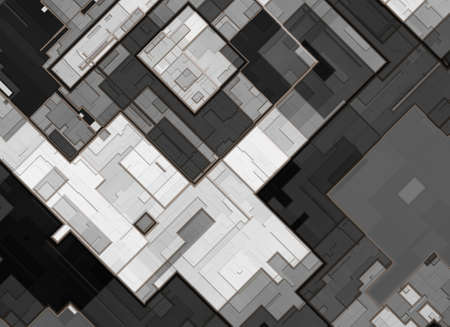 city view: top view city plan. abstract background Stock Photo