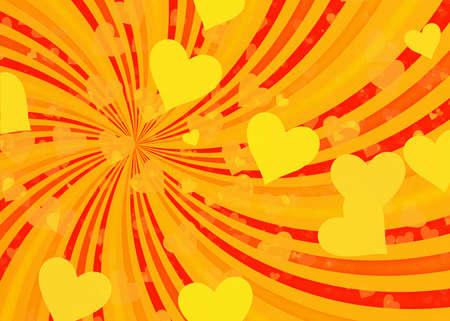 dreamy: dreamy light hearts on sun rays backgrounds. Love symbol Stock Photo