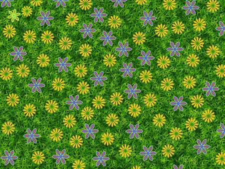 leafage: flowers blooming background. summer texture