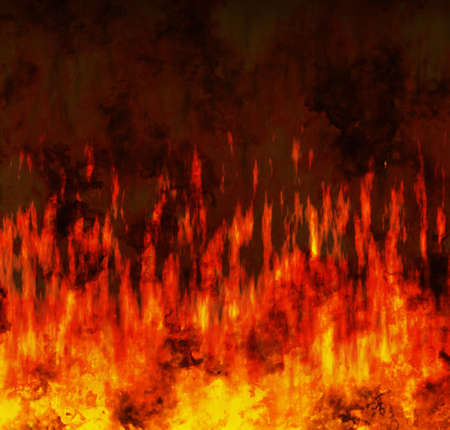 conflagration: red flame fire texture background Stock Photo