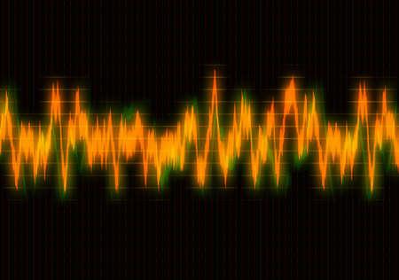 heart monitor: bright heart cardiogram on monitor screen