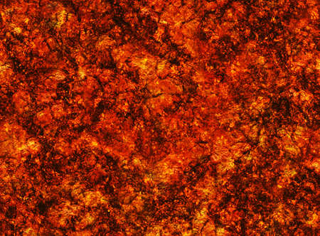 overheated: hot coal lava texture after eruption volcano. grained texture Stock Photo