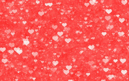 delicacy: transparent hearts on red delicacy backgrounds. Love texture. panoramic format Stock Photo