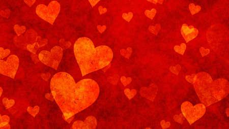 manjar: corazones delicadeza sobre fondos rojo con textura. Amor textura. formato panorámico Foto de archivo