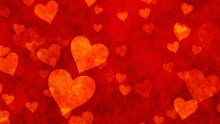 textured backgrounds: delicacy hearts on red textured backgrounds. Love texture. panoramic format