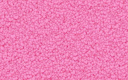 backgrounds texture: many small red hearts backgrounds. Love texture. panoramic format Stock Photo
