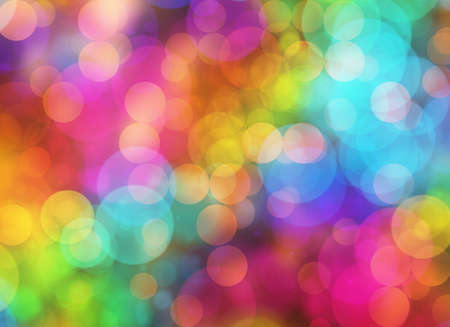 lighting technique: Holiday blur manycolored rounds bokeh backgrounds in Chaotic Arrangement