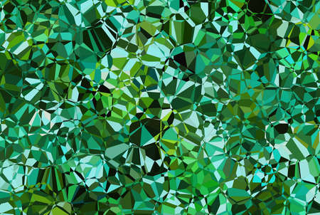 scarp: green crystal abstract texture. cubism painted backgrounds