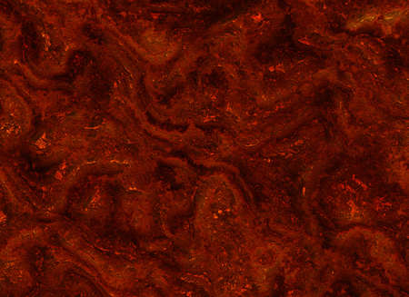overheated: solidified hot lava fire texture after eruption volcano Stock Photo