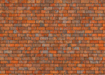 untidy: old hi-res red small brick dirty wall pattern