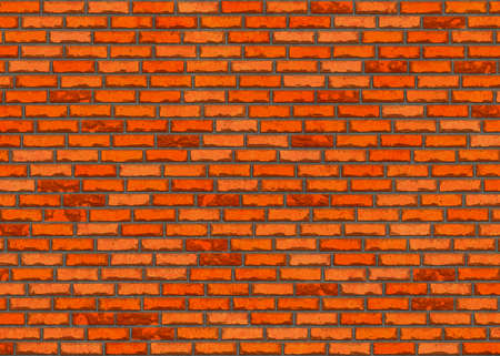 red small brick wall pattern