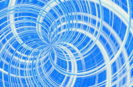 mixed blue and white curled lines with motion blur effect Stock Photo
