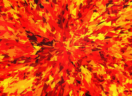red fire burst and broken elements background