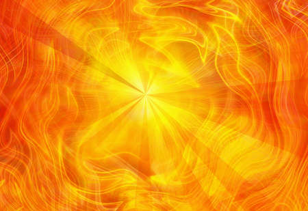 light emission: abstract dreamy fire rays background