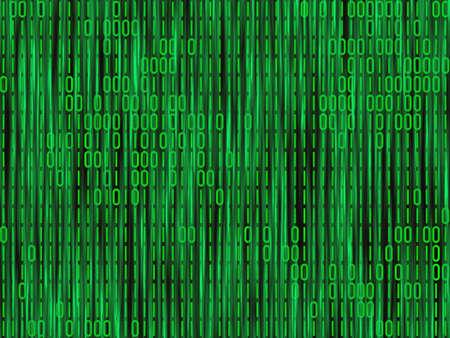assembler: green matrix code backgrounds Stock Photo