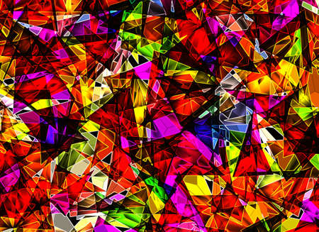 medley: many abstract neon element background