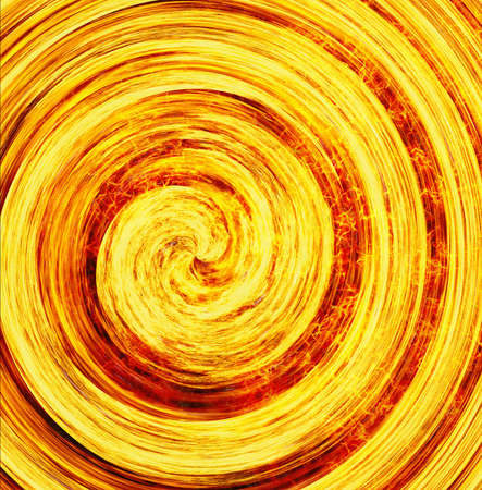 curled bright explosion fire rays background
