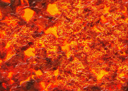 overheated: hi-res hot lava and coal texture of eruption volcano Stock Photo