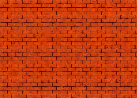 hires: hi-res red cracked small brick wall pattern