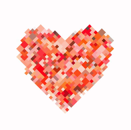 red pixel heart on white backgrounds