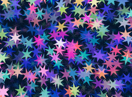 chaotical: many multicolored stars backgrounds Stock Photo