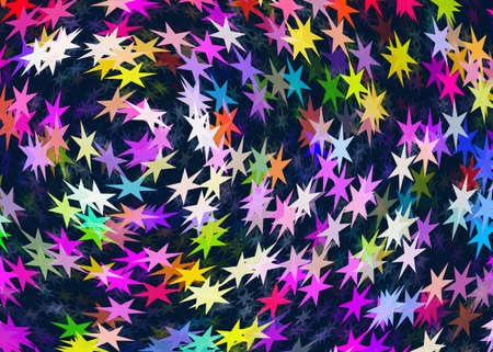 stellate: many multicolored stars backgrounds Stock Photo