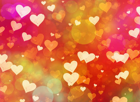 multicolored hearts background of Love symbol Stock Photo