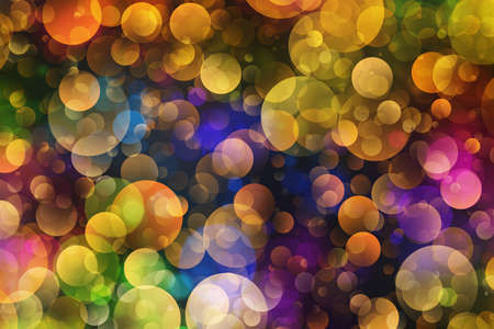 Many bubbles in Chaotic Arrangement. Bokeh backgrounds