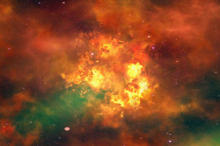 fume: bright explosion flash on a space backgrounds. fire burst