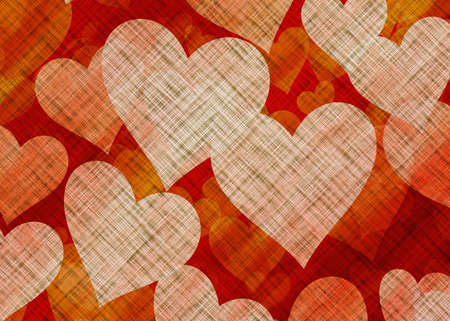 Many Hearts on Textile Texture